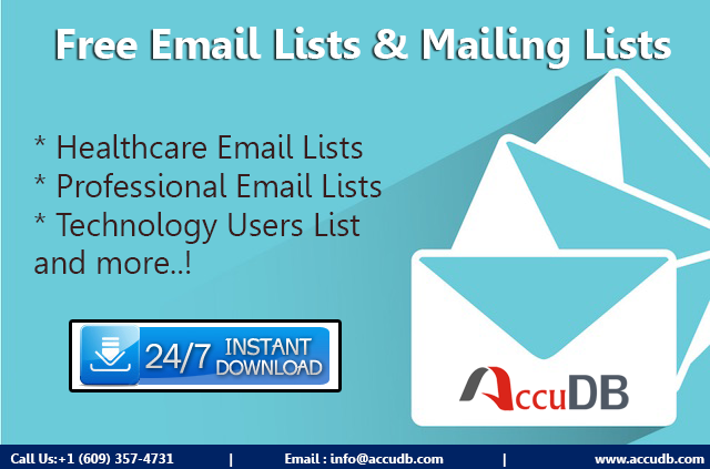 Free Email List from AccuDB Inc.