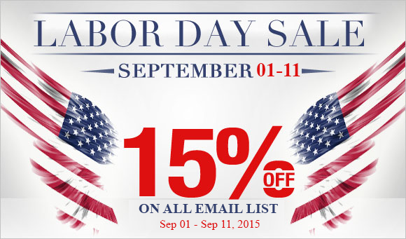 AccuDB Announces a 15% off on all Email List purchases on the eve of Labor Day 2015